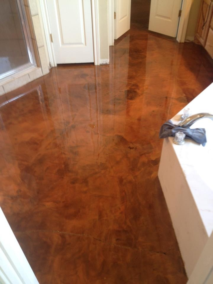 67 best epoxy deco images on pinterest homes concrete for Concrete bathroom floor