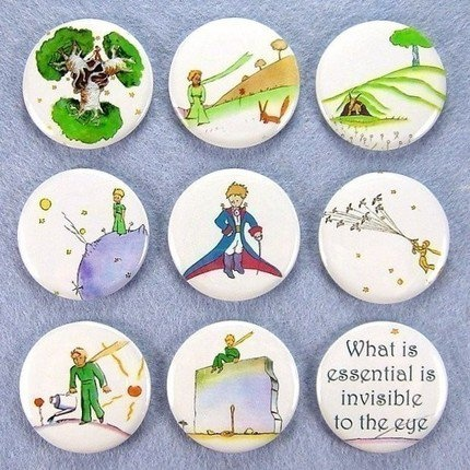 Little Prince  Button Collage.  Great idea to make wall art for a nursery!