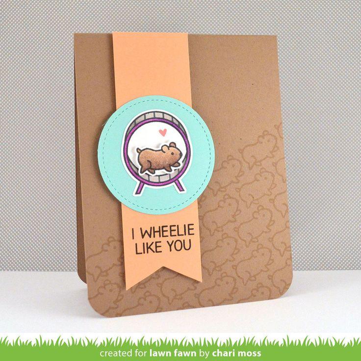 "Sample Card using ""I Wheelie Like You"" Lawn Fawn Stamp Set. So cute!"