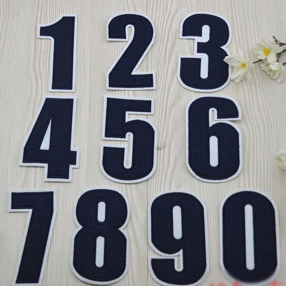 Anzahl Patch Uniformen Patch hintere Embroidered von RockyMonkei