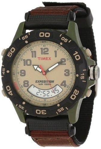 Timex Men's T45181 Expedition Analog-Digital Chrono Alarm Timer Brown Nylon Strap Watch $35.92 http://roksmu.blogspot.com/2014/07/expedition-watches.html