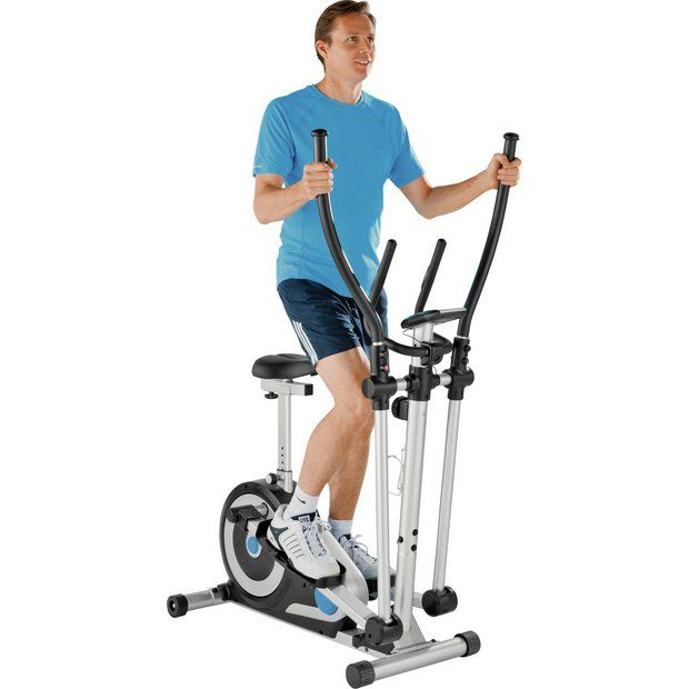 Buy Roger Black Silver 2 in 1 Exercise Bike and Cross Trainer at Argos.co.uk - Your Online Shop for Cross trainers and elliptical trainers, Fitness equipment, Sports and leisure.