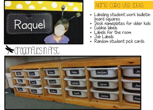 FREE editable name/word cards. Perfect for a variety of uses. Classroom Views and a FREEBIE
