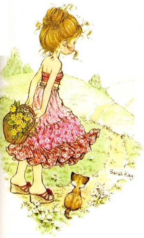 Con un canastillo de flores - Sarah Kay