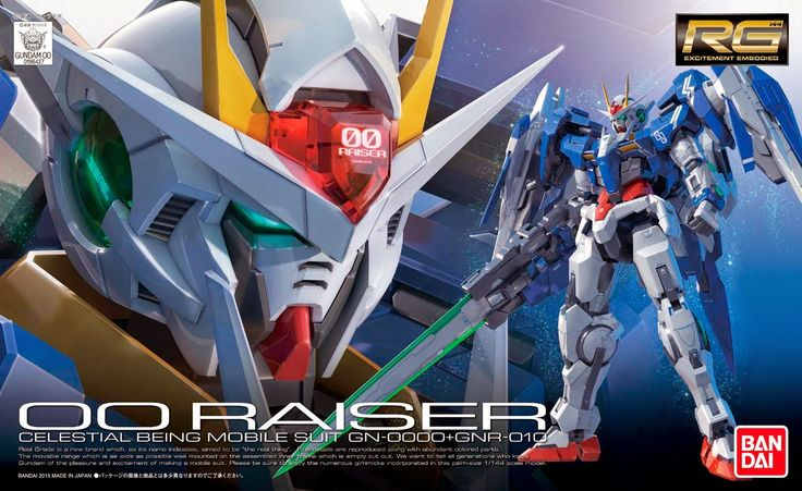 GN-0000+GNR-010 00 Raiser Gundam RG 1/144 - Gundam Toys Shop, Gunpla Model Kits Hobby Online Store, Diorama Supply, Tamiya Paint, Bandai Action Figures Supplier