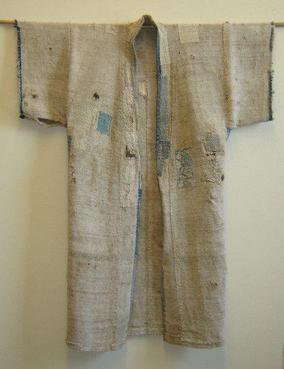 okuso kimono with asagi patches