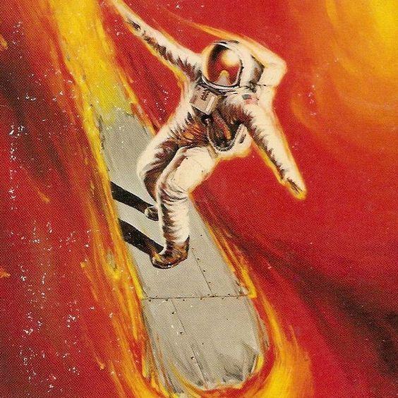 Darrell K. Sweet  cover art for the alan dean foster novel DARK STAR 1974