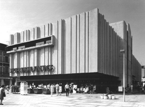 Department store Prisunic (1971-72) in Saarlouis, Germany, by Karl Hanus