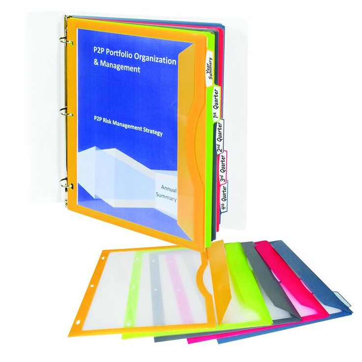 C LINE BINDER POCKETS WITH WRITE ON