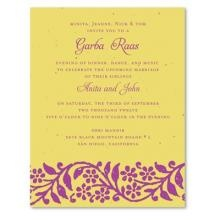 Impress Your Guests With Our Garba Raas Wedding Invitations. Invitations  Are Printed On 100% · Wildflower SeedsEco FriendlyWedding Invitations