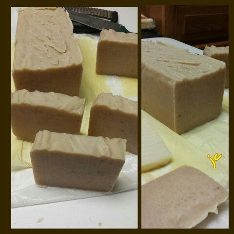 Acai Berry Chocolate handmade soap. Recipe: Castor oil (2%); Coconut oil  (25%); Rice bran oil (10%); Shea butter (5%); Walmart GV shortening (25%); Olive Oil (20%); Palm Oil (13%); distilled water (18.24 oz); Lye (6.79 oz). Fragrance (2 oz)