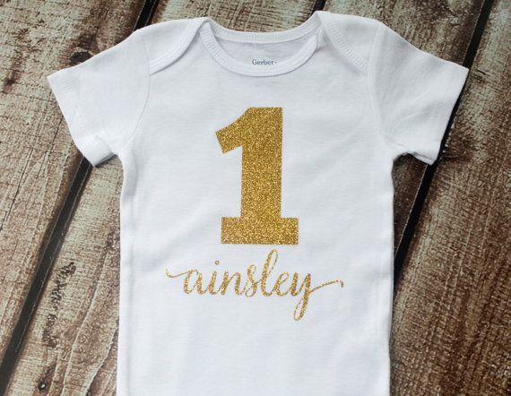 Personalized First Birthday First Birthday by pinkblossomdesignco