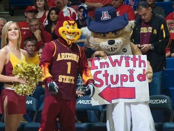 You hate Arizona State with the fiery passion of a thousand suns. | 33 Signs You Eat, Sleep, And Breathe Arizona Wildcats Basketball