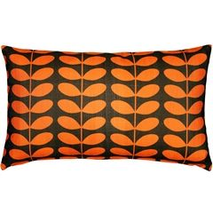 midcentury modern orange throw pillow 12x20