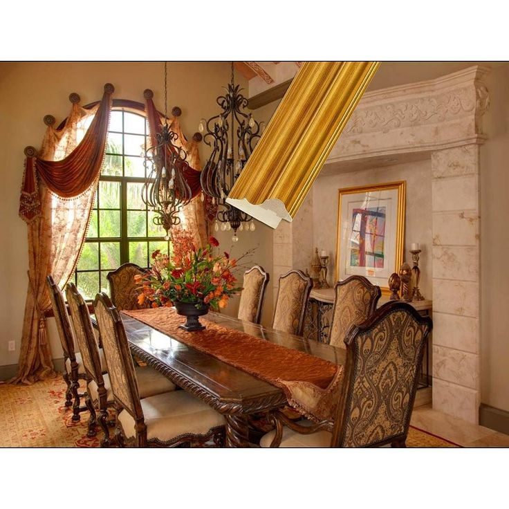 This formal dining room setting has a lush yet welcoming for Formal dining room wall art