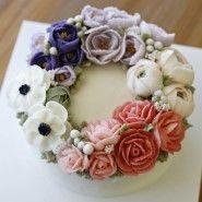 아름다운 버터크림 플라워 컵케이크 앨리스 케이크 클래스 세번째 시간 전체적인 기초를 배우게 되는 앨리...