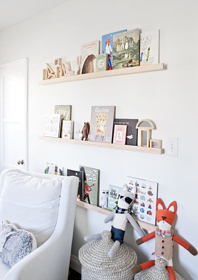 the perfect white diy nursery shelves land of nod pinterest rh pinterest com