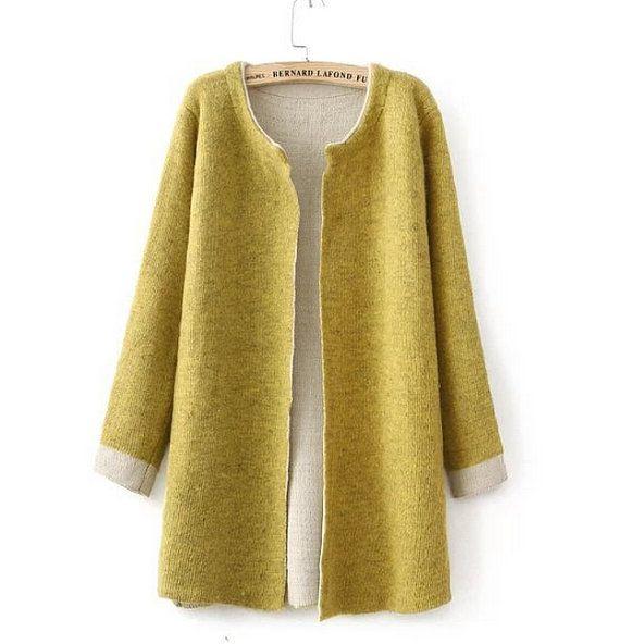 "★Material: cotton/Rabbit/woolen yarn ★One Size    Bust:92cm(36.22"")  Length:75cm(29.52"")  Shoulder:39cm(15.35"")  Sleeve Length:57cm(22.44"")    5187"