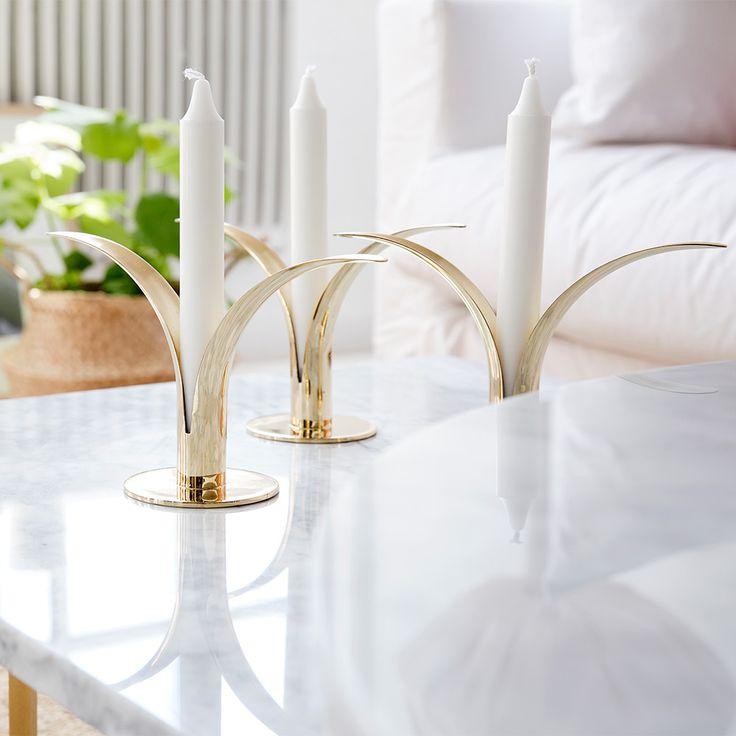 Liljan Candle Holder, Brass $118. - RoyalDesign.com