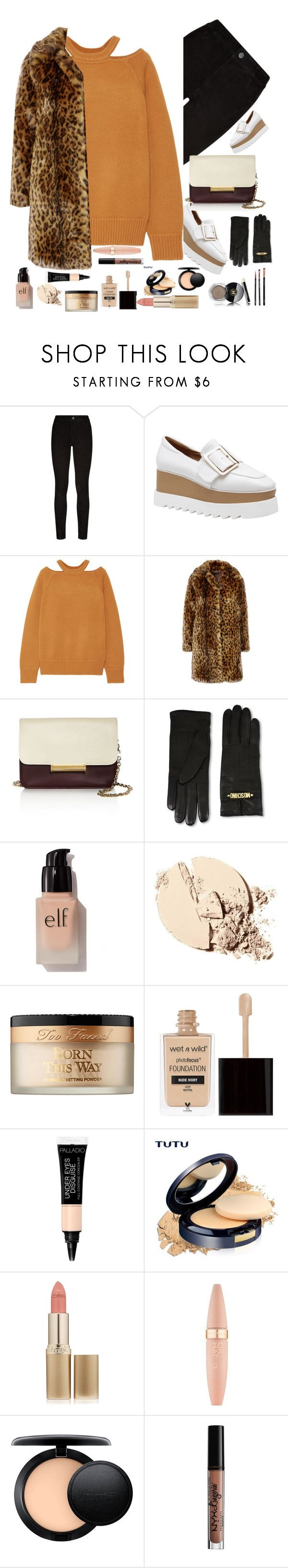 """Untitled #280"" by shahystyle ❤ liked on Polyvore featuring Paige Denim, Jason Wu, J.Crew, Moschino, e.l.f., Too Faced Cosmetics, Wet n Wild, L'Oréal Paris, Maybelline and MAC Cosmetics"