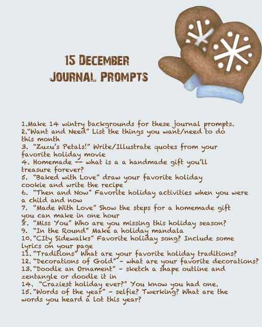 December Journal prompts. #Journalling #XeroxIt