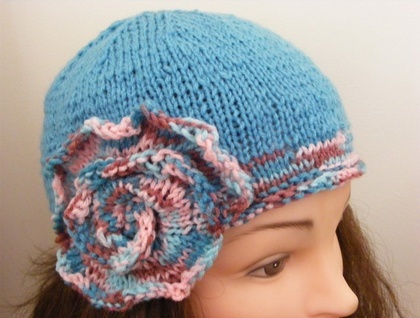 Hand Knitted Cloche Style Beanie Hat - SORRY SOLD