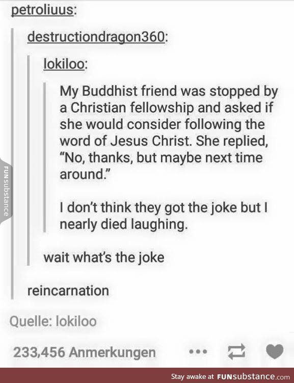 Example of a good religious joke