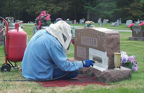 Cemetery On-Site Engraving Services