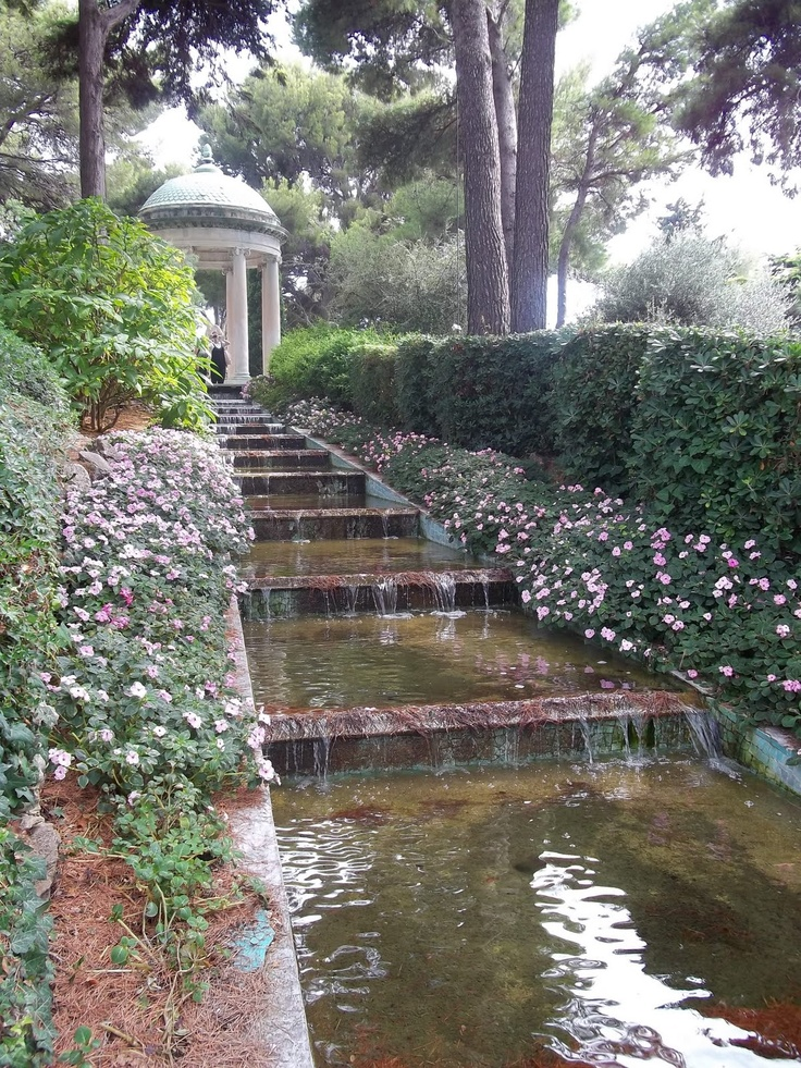 Walk up to the Belvedere at villa ephrussi de rothschild stepping stones - Google Search