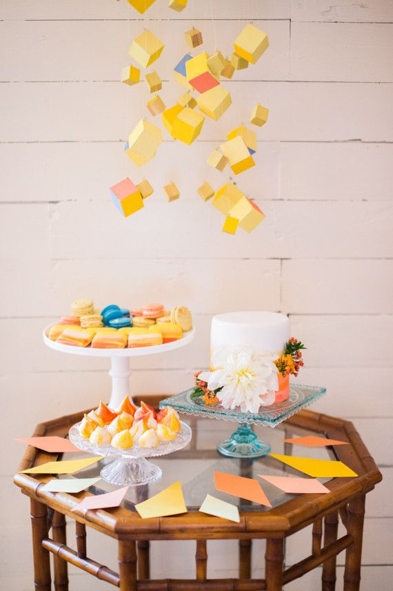 Bright, Modern Dessert Table