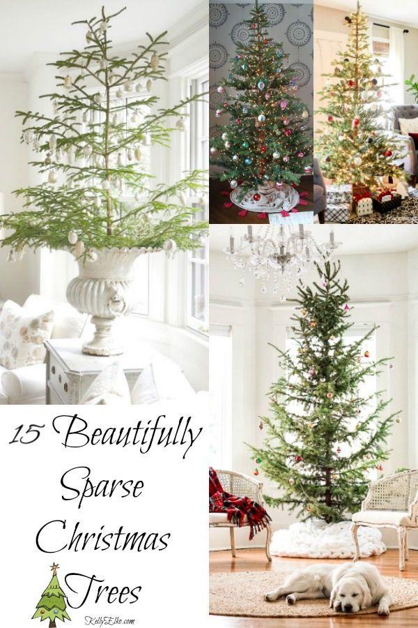 15 Sparse Christmas Trees Creative Christmas Trees Beautiful Christmas Decorations Christmas Decorations
