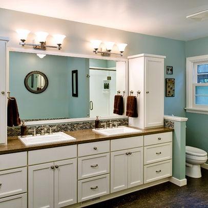 bath photos half partition wall design, pictures, remodel