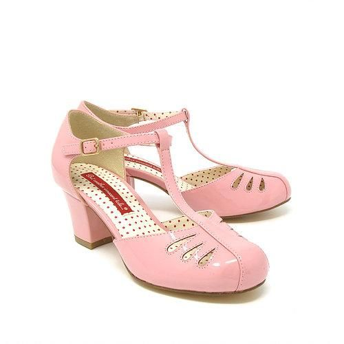 Robbie Rose Pink T-Straps by B.A.I.T.