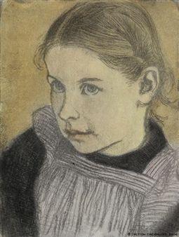 Pikkutytön muotokuva By Eero Järnefelt