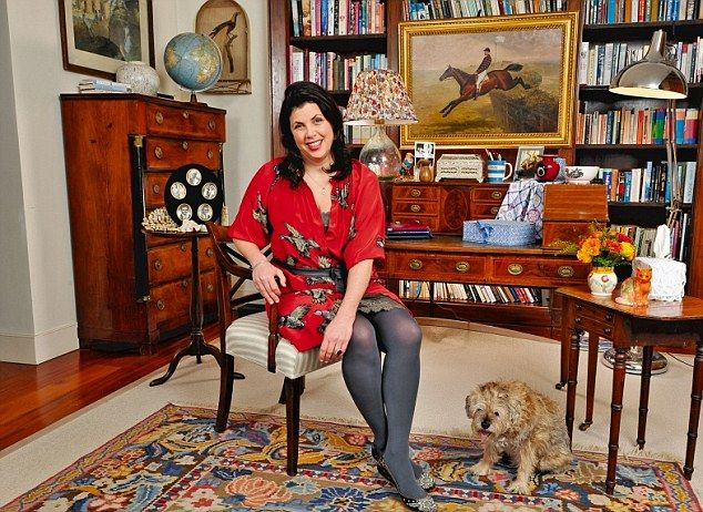 My haven: TV presenter Kirstie Allsopp, 41, in the study of the west London home…