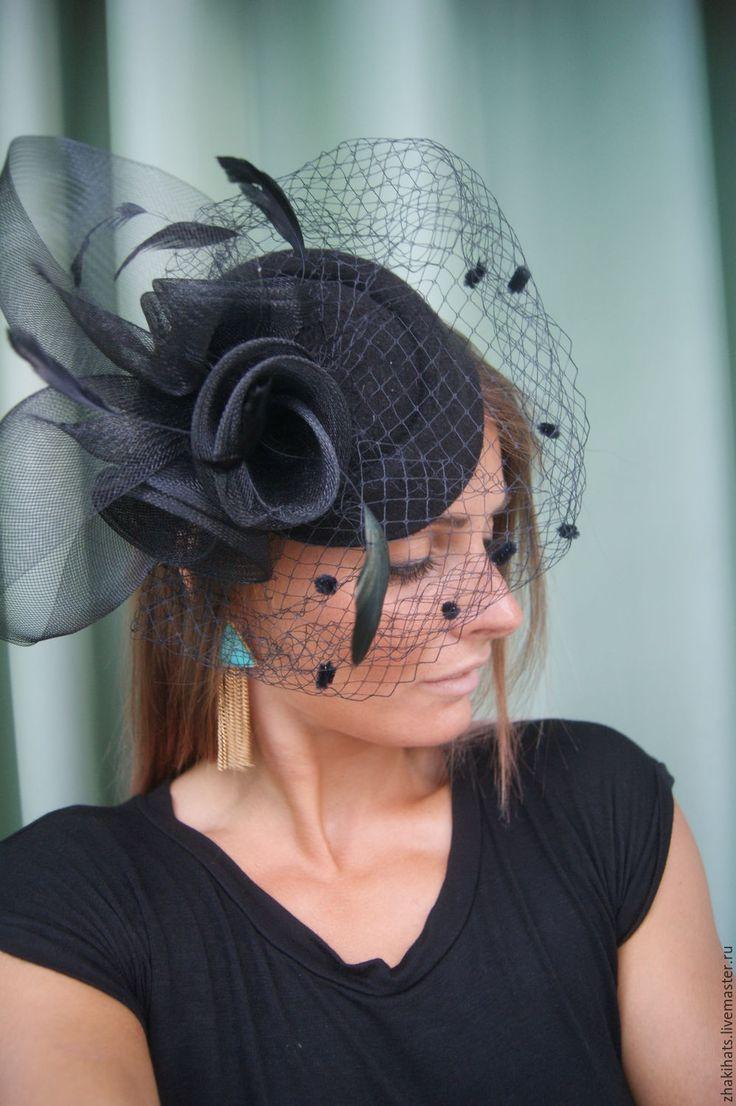 """Купить Шляпка для скачек """"Gerri"""" - шляпка шляпки, шляпка с вуалью, шляпки с вуалью, шляпки для скачек"""