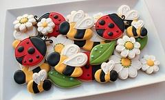 Bees and Ladybug Cookies