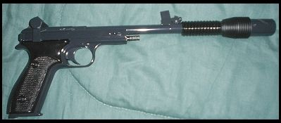 Leia's DDC Defender sporting blaster, used for Endor Assault costume