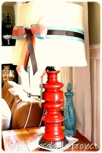 ribbon lamp shade