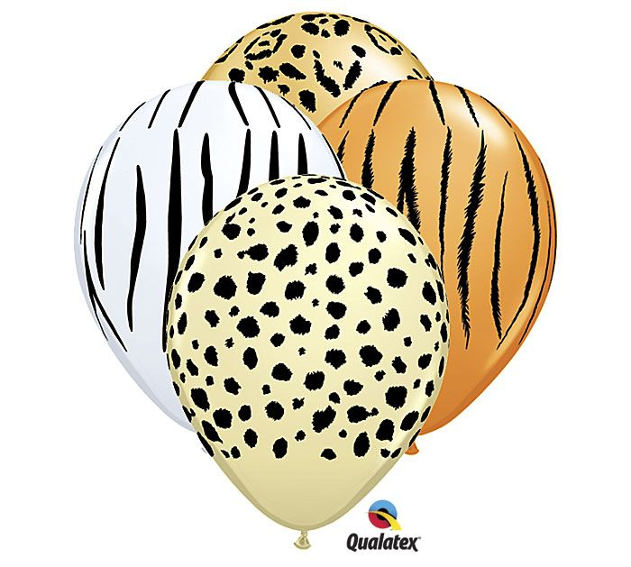 Have fun with these Safari print latex balloons! #burtonandburton #animal_print #balloons