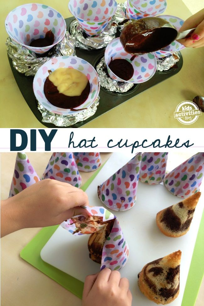 birthday cupcake hats easy to make easy to decorate and your kids will love them