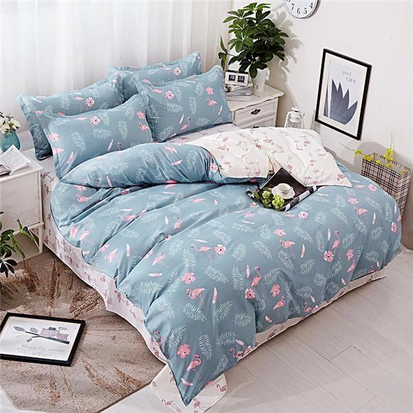 Cartoon Bedding Sets Soft Kids Duvet Cover Set Quilt Cover Bed Set