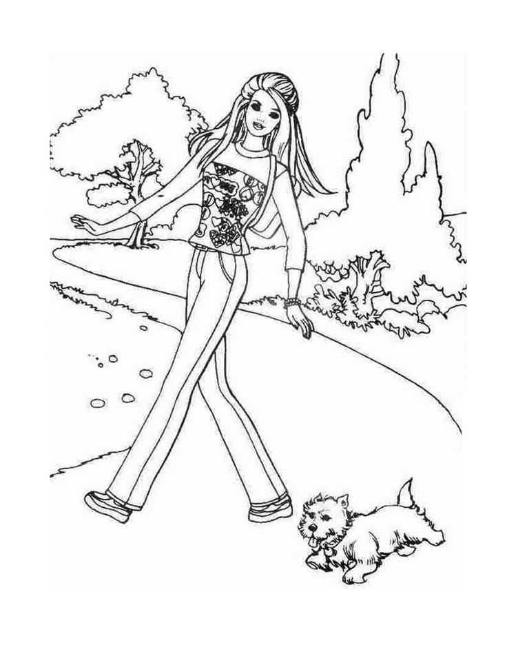 The 17 best Barbie Coloring images on Pinterest   Barbie coloring ...