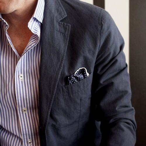 .Fashion Men, Summer Jackets, Men Style, Stripes Shirts, Men Fashion, Pocket Squares, Casual Looks, T Shirts, Style Blog