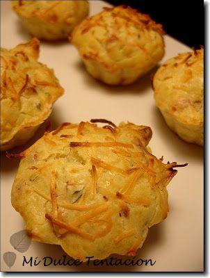 Mi dulce tentación: Muffins de Queso y Bacon