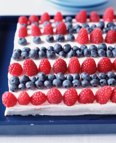 Use fresh berries when making summer desserts for a refreshing and festive snack!