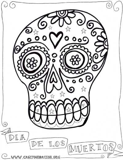Dia De Los Muertos Colouring Pages Halloween