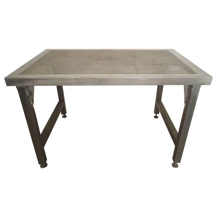 Factory Work Table with Perforated Top 1