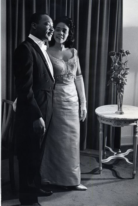 Martin Luther King Jr and his wife Coretta Scott King.
