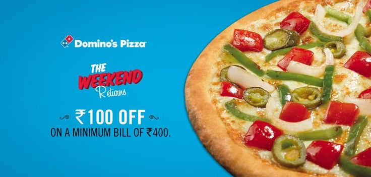 Dominos Weekend Coupon, Flat 100 off   additional 15 % off upto 75 - http://www.dealsdhaba.com/coupons-for-discounts-and-offers/dominos-weekend-coupon-flat-100-off-additional-15-off-upto-75/